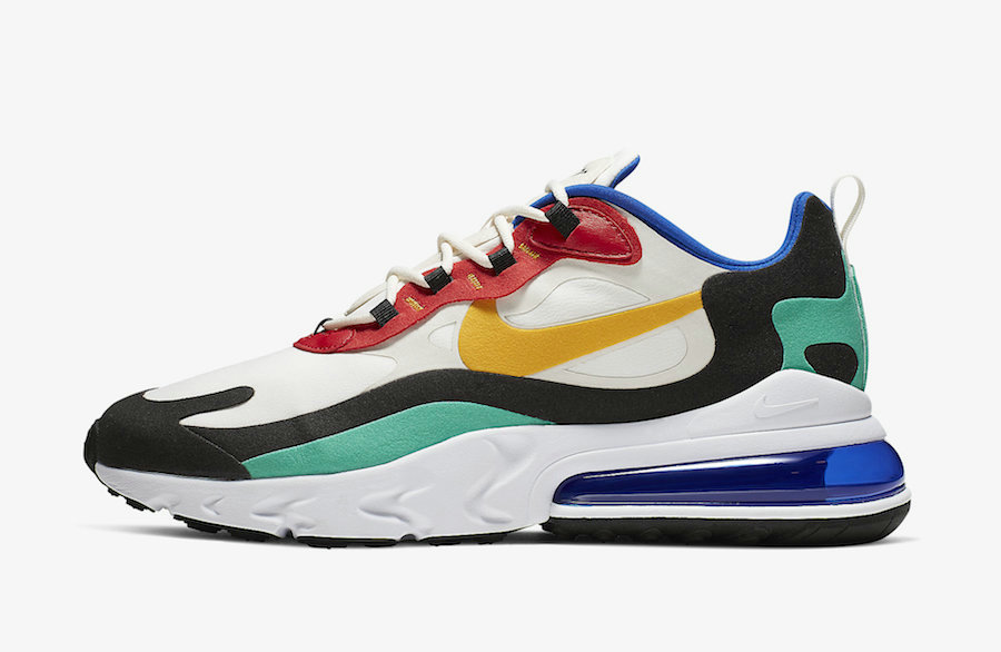 Where To Buy Cheap Nike Air Max 270 React Bauhaus Phantom University Gold-University Red AO4971-002 On VaporMaxRunning