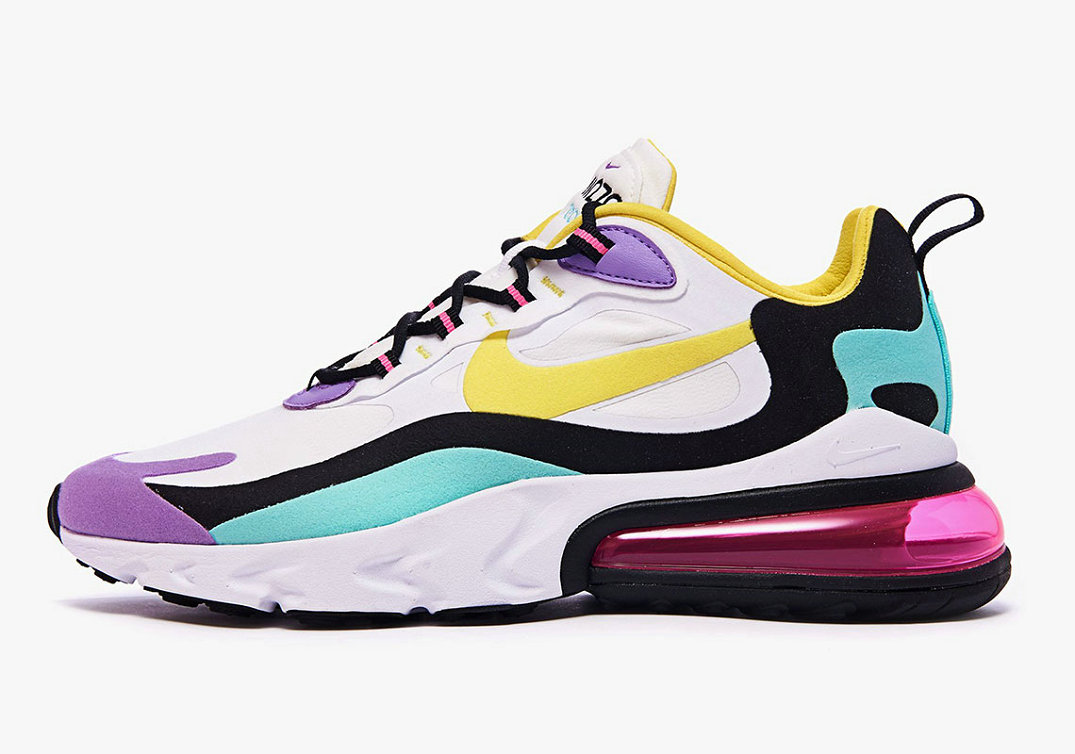 Where To Buy Cheap Nike Air Max 270 React Bright Violet