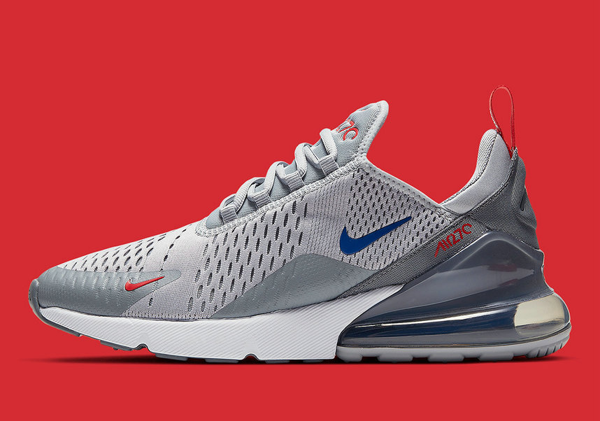 Where To Buy Cheap Nike Air Max 270 Wolf Grey Game Royal-Cool Grey-University Red CD7338-001 On VaporMaxRunning