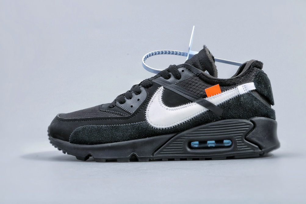 Where To Buy Cheap Nike Air Max 90 Off-White Black-Cone-White AA7293-001 On VaporMaxRunning