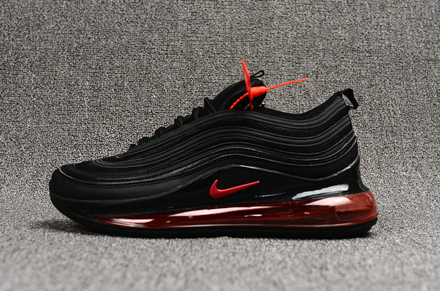Where To Buy Cheap Nike Air Max 97 720 Black Fire Red On VaporMaxRunning