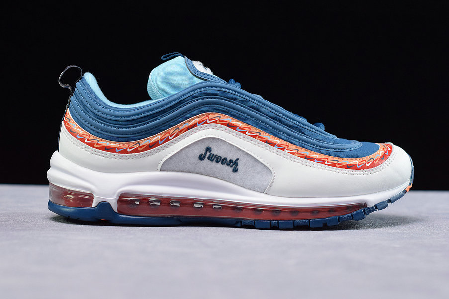 Where To Buy Cheap Nike Air Max 97 Blue Force Summit White Blanc Sommet CQ4818-400 On VaporMaxRunning
