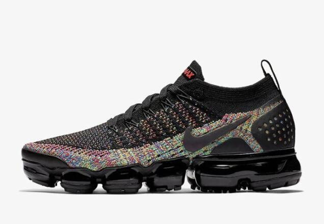 Where To Buy Cheap Nike Air VaporMax 2.0 Black Multi-Color Black Racer Pink-Racer Blue-Black 942843-015 On VaporMaxRunning