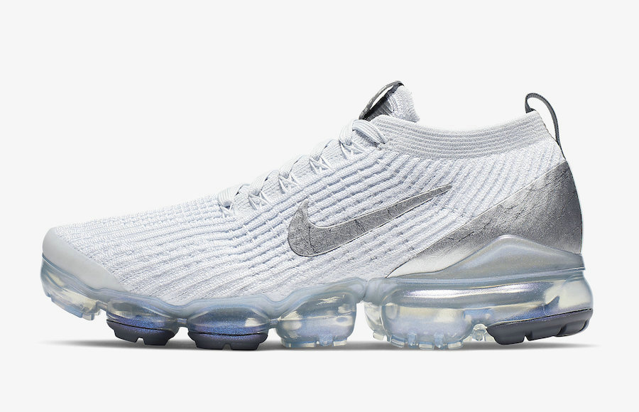 Where To Buy Cheap Nike Air VaporMax Flyknit 3 White Silver AJ6910-101 On VaporMaxRunning