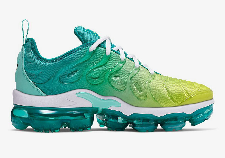 Where To Buy Cheap Nike Air VaporMax Plus Spirit Teal Tropical Twist-White-Cyber CI9900-300 On VaporMaxRunning