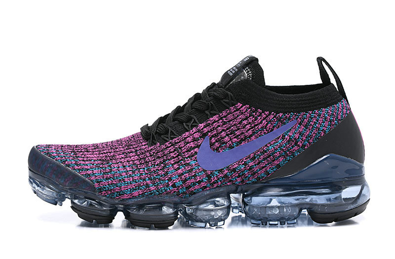 Where To Buy Cheap Nike Air Vapormax 3.0 Black Blue Lagoon-Laser Fuchsia-Metallic Silver AJ6900-009 On VaporMaxRunning