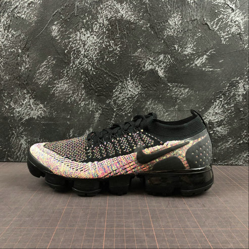 Where To Buy Cheap Nike Air Vapormax Flyknit 2.0 Black Racer Pink Noir Rose Coureur 942842-017 On VaporMaxRunning