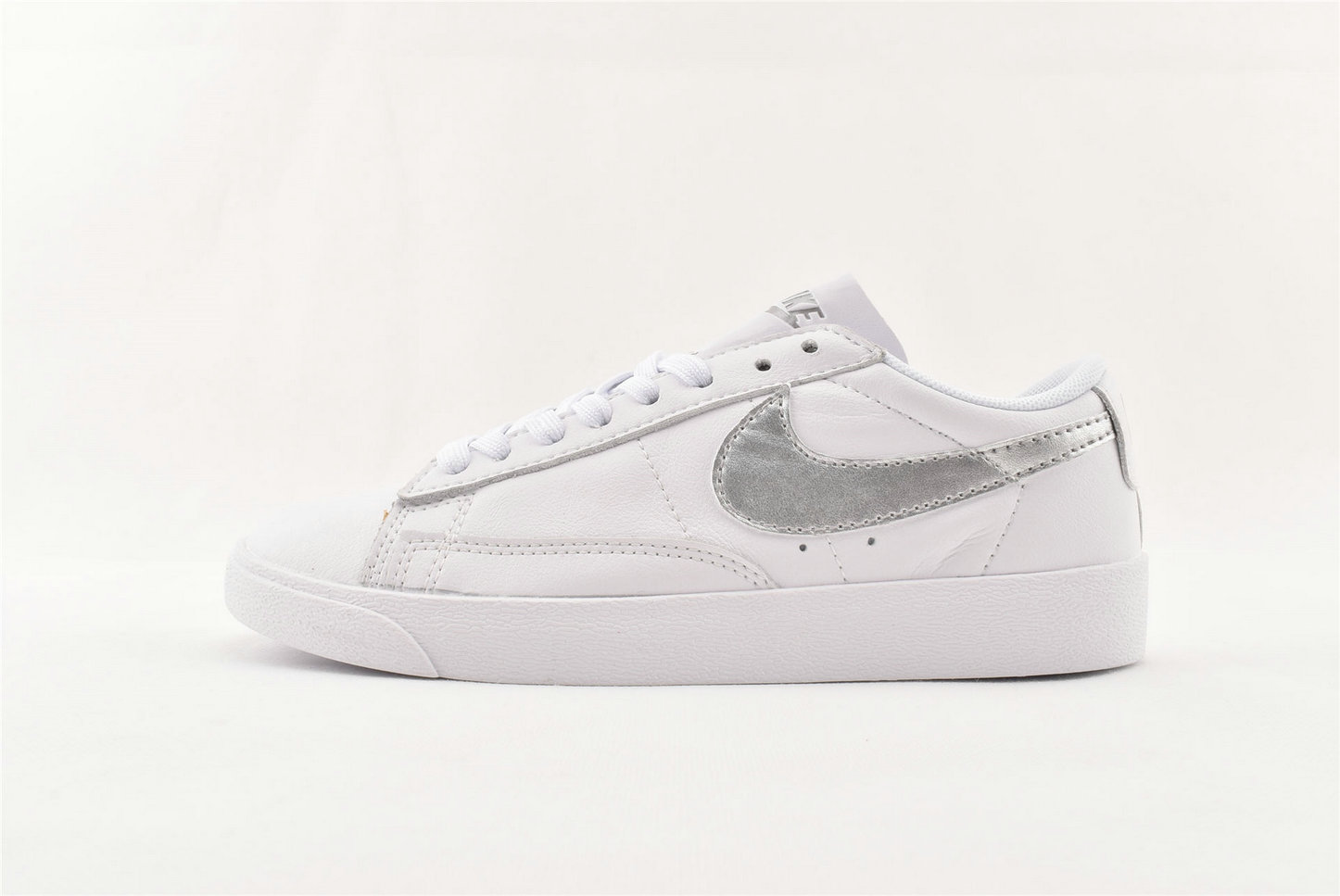 Where To Buy Cheap Nike Blazer Low LE White Metallic Silver-White AA3961-101 On VaporMaxRunning