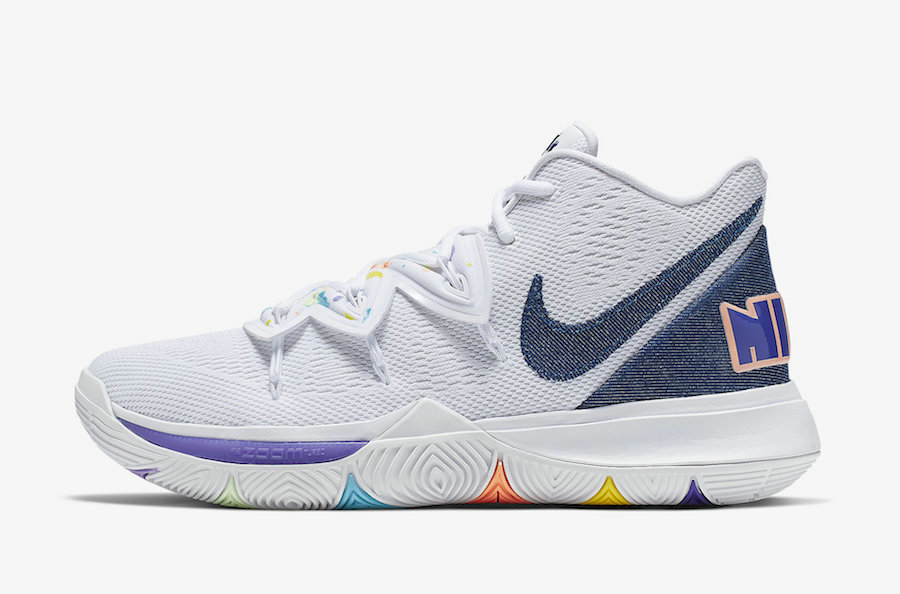 Where To Buy Cheap Nike Kyrie 5 Have A Nike Day White Deep Royal-Glacier Blue AO2919-101 On VaporMaxRunning