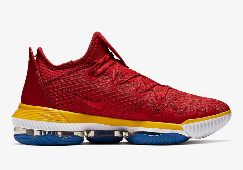 Where To Buy Cheap Nike LeBron 16 Low SuperBron University Red Varsity Royal CK2168-600 On VaporMaxRunning