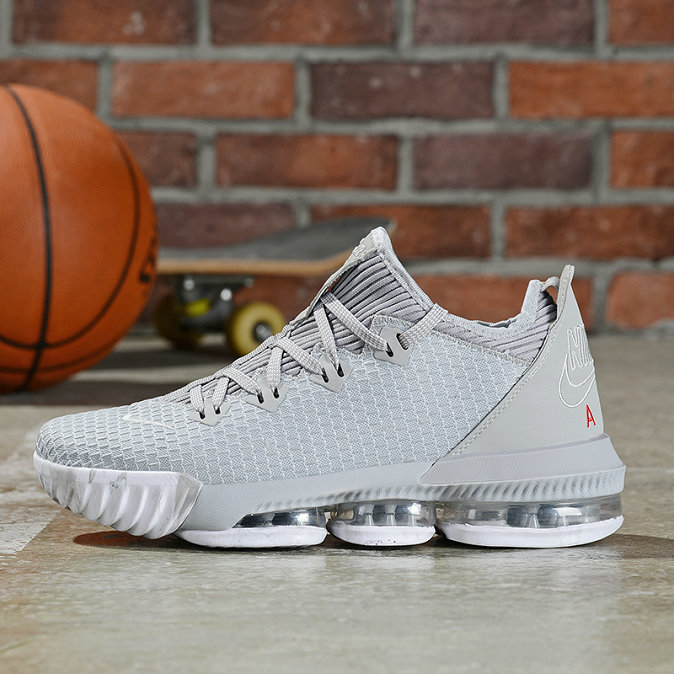 Where To Buy Cheap Nike LeBron 16 Low Wolf Grey University Red CI2668-003 On VaporMaxRunning