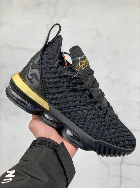 Where To Buy Cheap Nike LeBron XVI EP Black Metallic Gold Noir Or Metallique BQ5970-007 On VaporMaxRunning