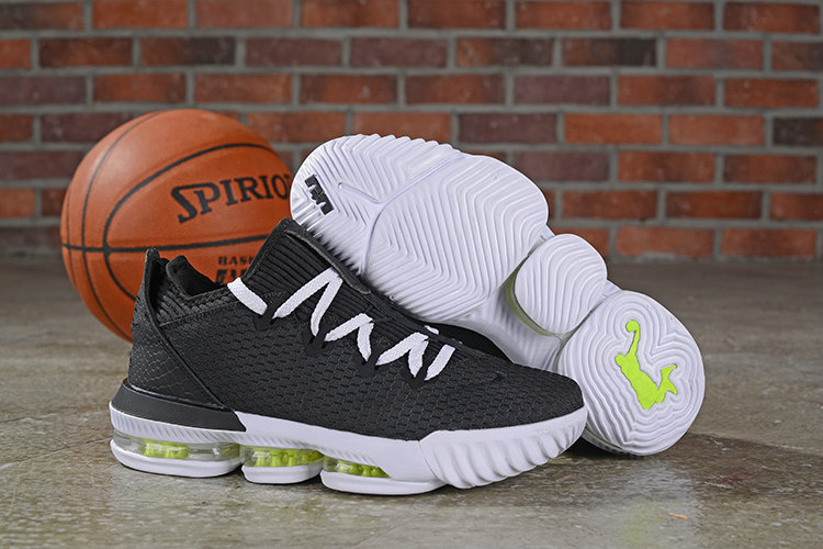 Where To Buy Cheap Nike Lebron 16 Low Black Summit White Volt Glow - CI2668 004 On VaporMaxRunning