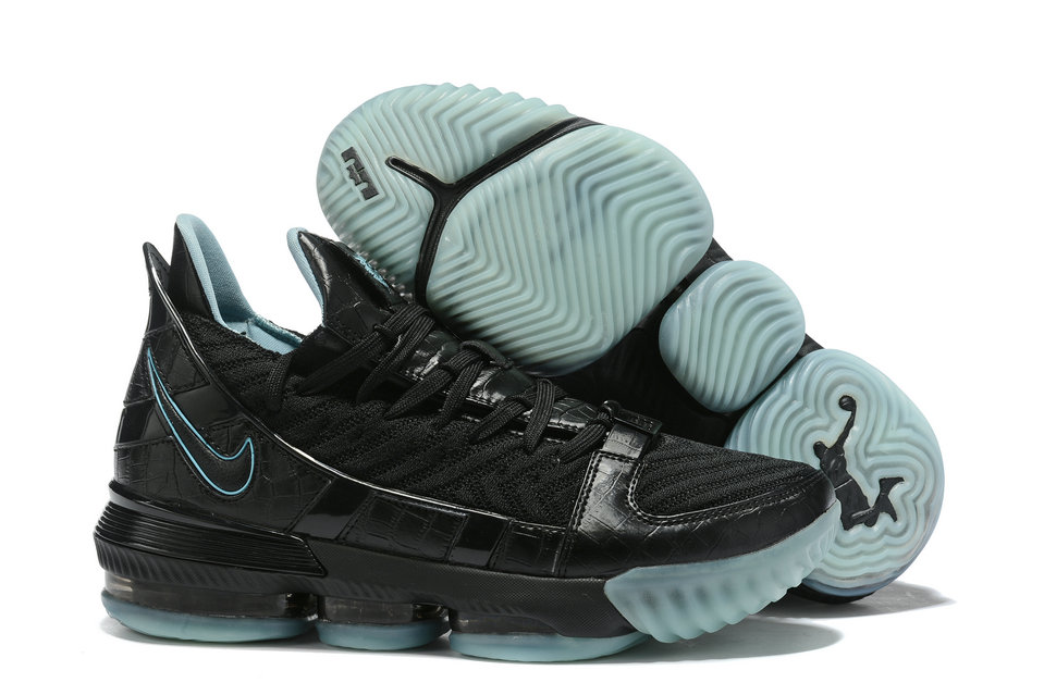 Where To Buy Cheap Nike Lebron XVI SB Black Water Blue Noir Water Bleu AO2588-405 On VaporMaxRunning