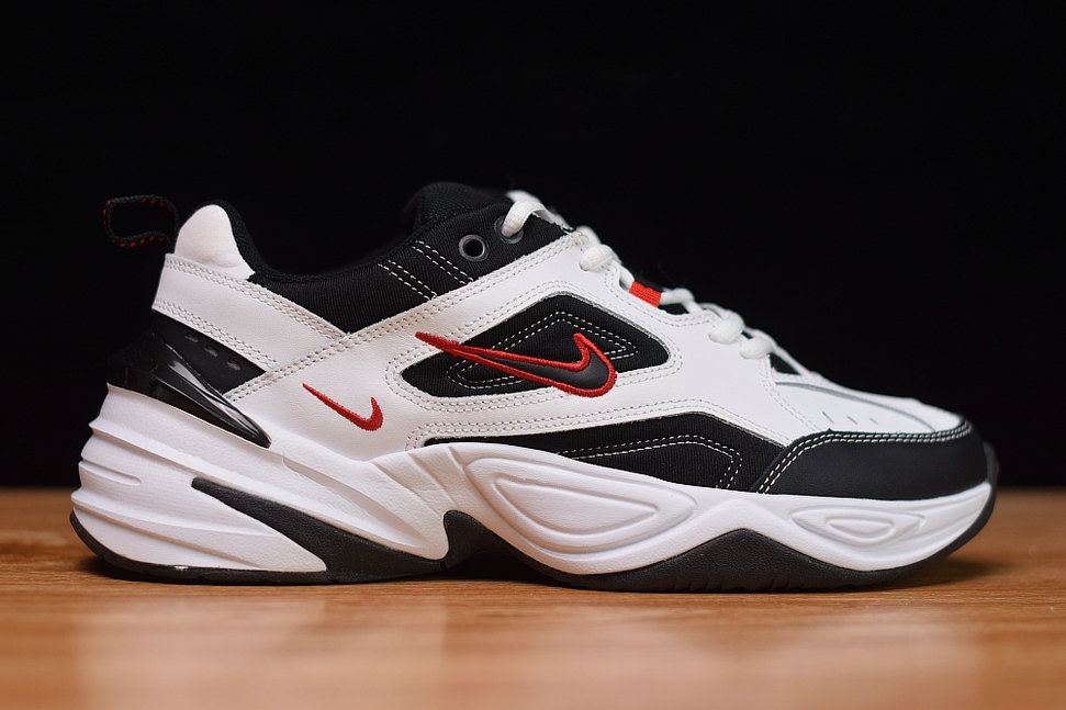 Where To Buy Cheap Nike M2K Tekno White Black University Red Blanc Rouge Noir AV4789-104 On VaporMaxRunning