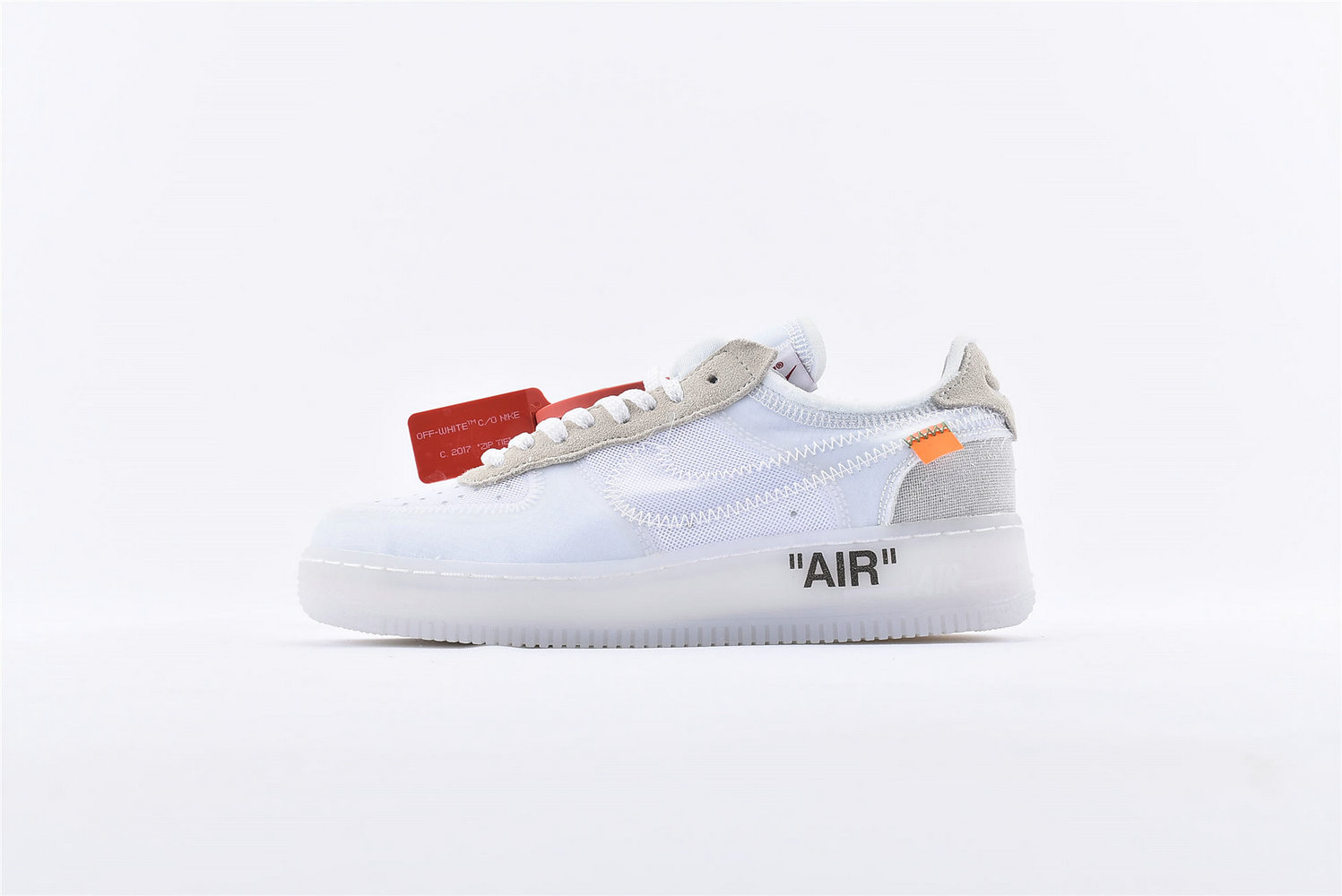 Where To Buy Cheap Off-White x Nike Air Force 1 Low White-White-Sail AO4606-100 On VaporMaxRunning