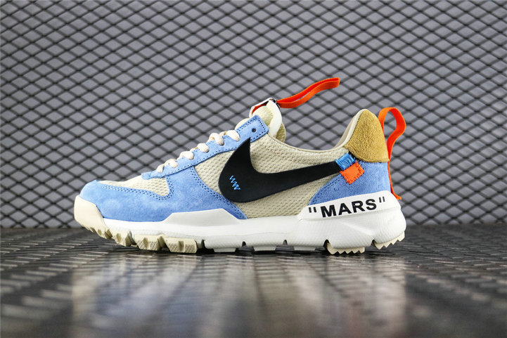 Where To Buy Cheap Off White x Tom Sachs x Nike Craft Mars Yard 2.0 Work Blue Cream Black AA2261 118 On VaporMaxRunning