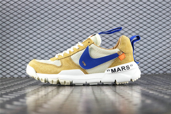 Where To Buy Cheap Off White x Tom Sachs x Nike Craft Mars Yard 2.0 Yellow White Blue AA2261 600 On VaporMaxRunning