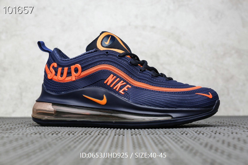 Where To Buy Cheap Supreme x Nike Air Max 97 Orange Royal Blue On VaporMaxRunning