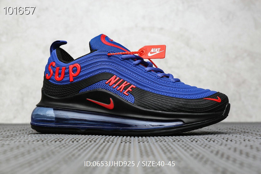 Where To Buy Cheap Supreme x Nike Air Max 97 Royal Blue Red Black On VaporMaxRunning