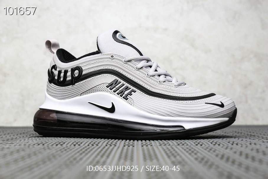 Where To Buy Cheap Supreme x Nike Air Max 97 Wolf Grey Black On VaporMaxRunning