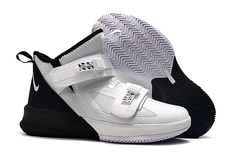 Where To Buy Kids Nike Lebrons Soldier 13 White Black On VaporMaxRunning