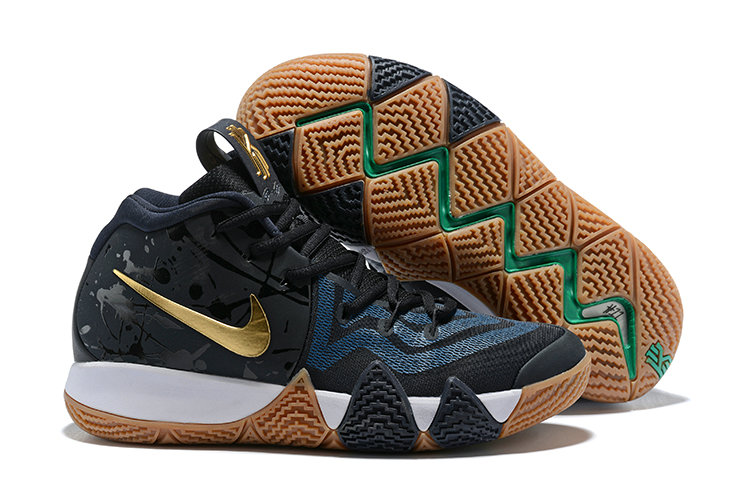 Cheap Where To Buy Nike Kyrie 4 Pitch Blue Metallic Gold 943807-403 On VaporMaxRunning