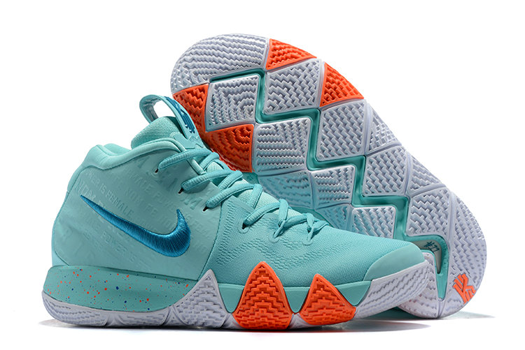 Cheap Where To Buy Nike Kyrie 4 Power is Female 943806-402 Light Aqua Neo Turquoise On VaporMaxRunning