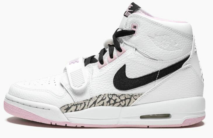 Where To Buy Womens 2019 Cheap Nike Air Jordan Legacy 312 GS White Black-Pink Foam AT4040-106 On VaporMaxRunning