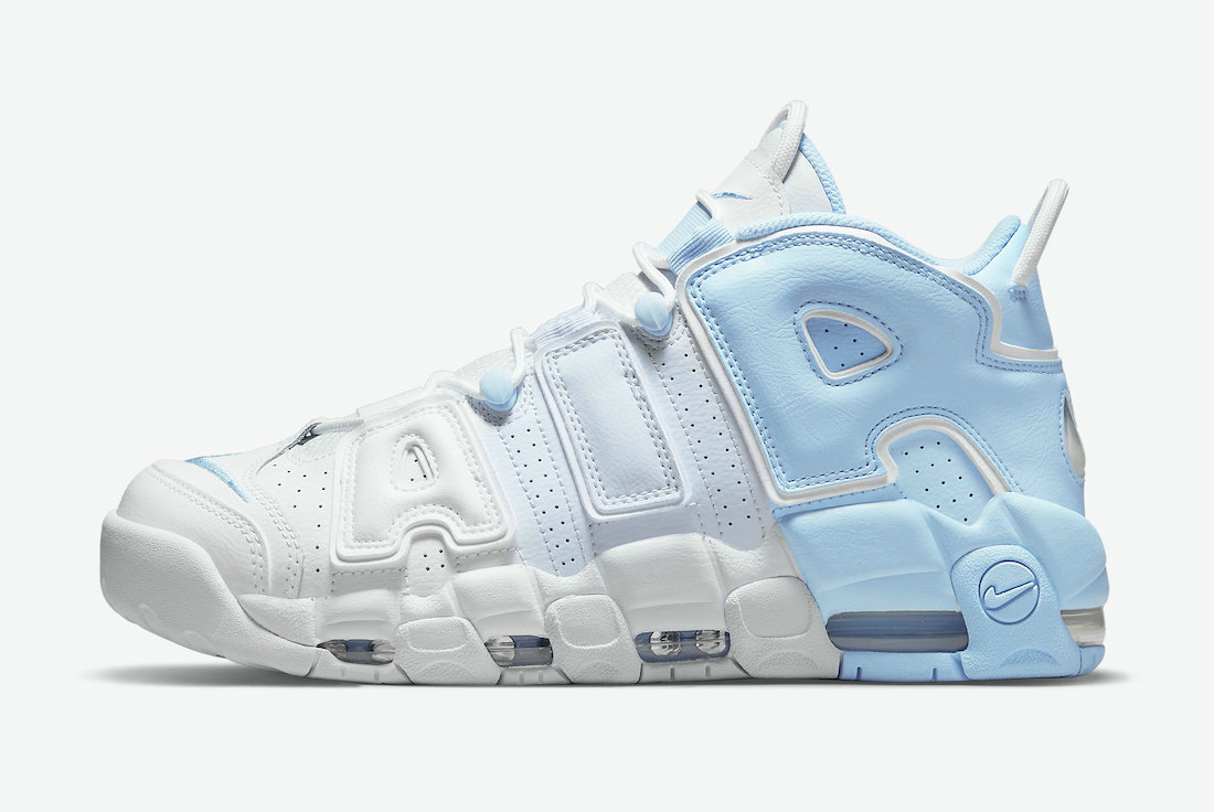 Where To Buy Womens 2021 Cheapest Nike Air More Uptempo Psychic Blue Football Grey-White-Multi-Color DJ5159-400 On VaporMaxRunning