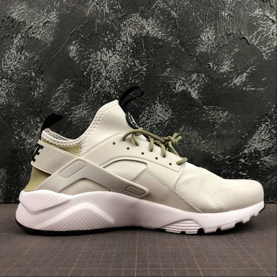 Where To Buy Womens Nike Air Huarache Run Ultra White Grey Army Green Blanc Gris Vert 847568-019 On VaporMaxRunning