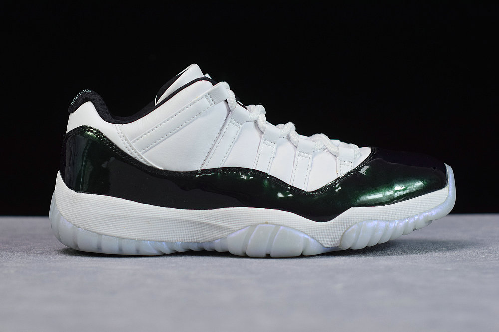 Where To Buy Womens Nike Air Jordan 11 Retro Low Emerald Rise White Black 528895 145 On VaporMaxRunning