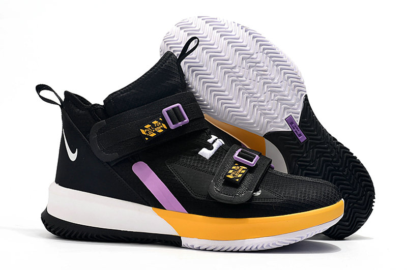 Where To Buy Womens Nike Lebrons Soldier 13 Yellow Black White Light Purple On VaporMaxRunning