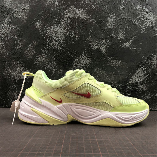 Where To Buy Womens Nike M2K Tekno Barely Volt Red Orbit White Rouge CI5842-700 On VaporMaxRunning