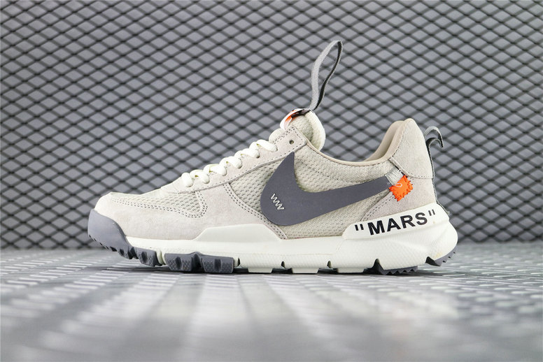 Where To Buy Womens OFF White x Tom Sachs x NikeCraft Mars Yard 2.0 Grey Black AA2261-003 On VaporMaxRunning