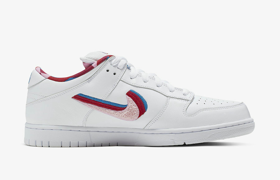 Where To Buy Womens Parra x Nike SB Dunk Low Friends And Family Midnight Turquoise Pink Rose CN4504-300 On VaporMaxRunning
