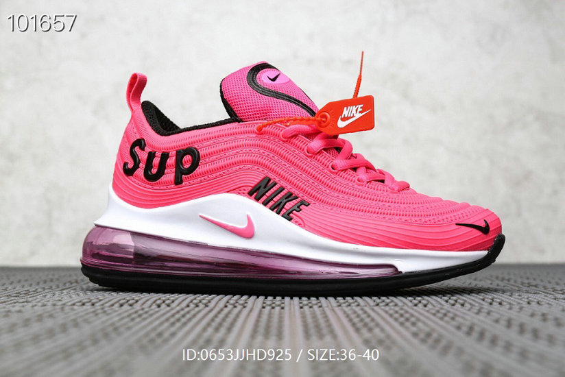 Where To Buy Womens Supreme x Nike Air Max 97 Pink Black White On VaporMaxRunning