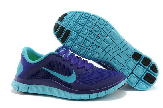 Women Nike Free 4.0 V3 Laser Purple Blue On VaporMaxRunning