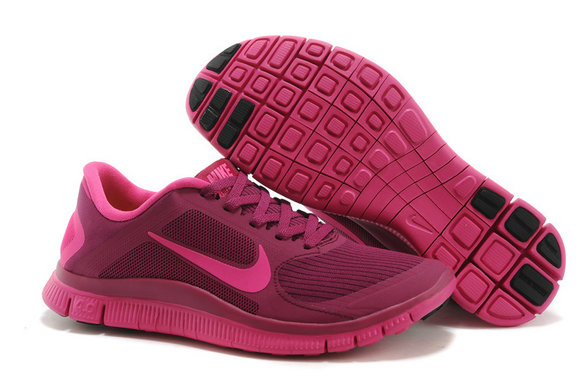 Women Nike Free 4.0 V3 Raspberry Red On VaporMaxRunning