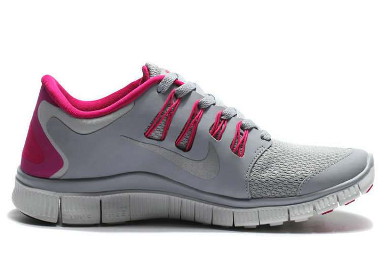Women Nike Free 5.0 V2 Grey Plum Red On VaporMaxRunning