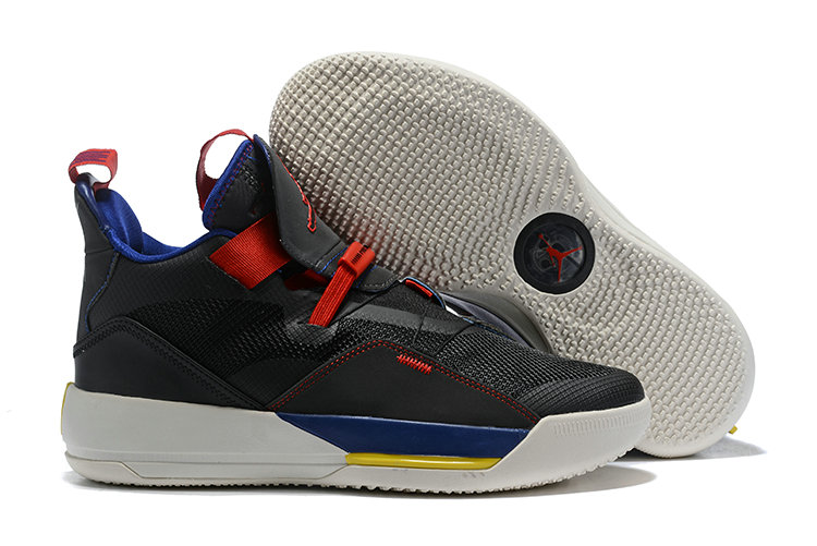 Womens 2019 Cheap Nike Air Jordan 33 Black Red Yellow Blue White On VaporMaxRunning