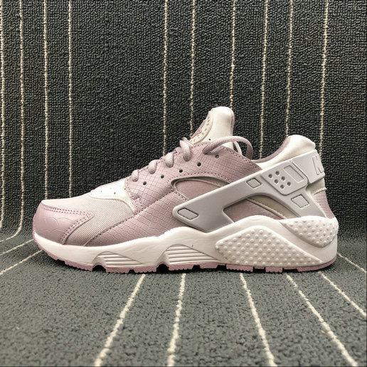 Womens Cheap NIKE Air Huarache Run 634835-029 Vast Grey Particle Rose Gris Infini Rose