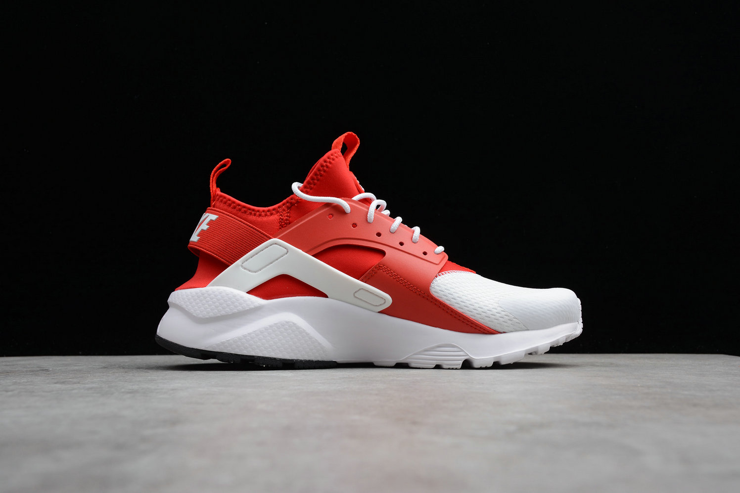 Womens Cheap Nike Air Huarache Run Ultra 847568-116 White Red Blanc Rouge