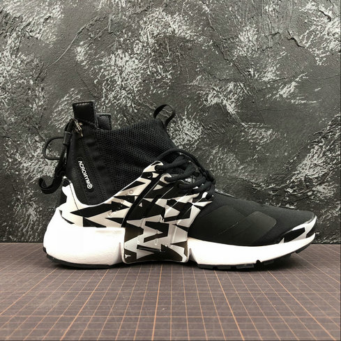 Cheap Womens Nike Air Presto Mid ACRONYM AH7832-003 White Grey Black On VaporMaxRunning