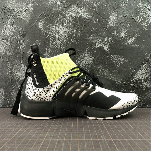 Cheap Womens Nike Air Presto Mid ACRONYM AH7832-600 Fluorescent Green White Black On VaporMaxRunning