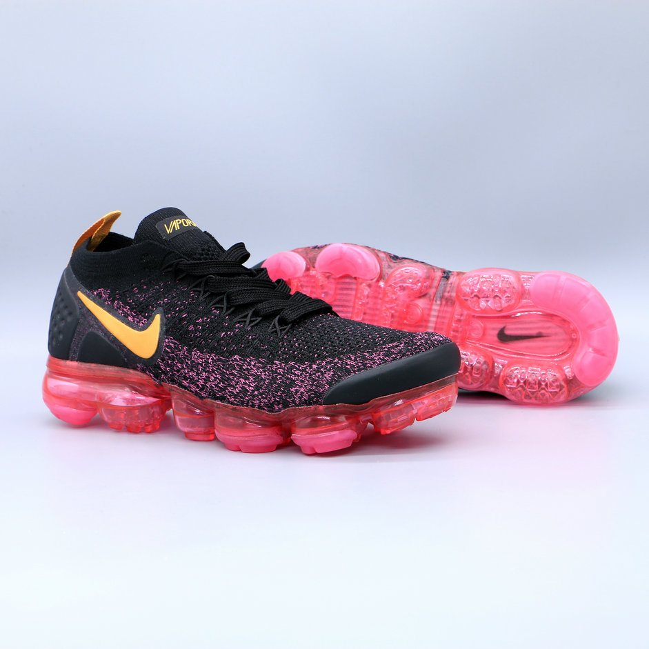 0b208fe00bcb Womens Cheap Nike Air Vapormax Flyknit 2 Womens 942843-008 Grey Pink On  VaporMaxRunning