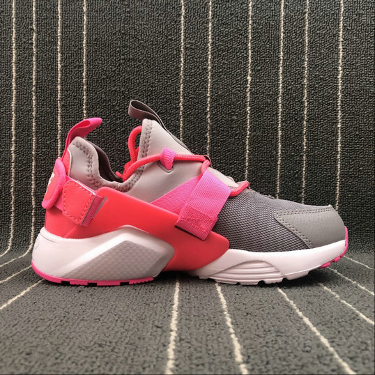 Womens NIKE AIR HUARACHE CITY LOW AH6804-007 PINK GREY