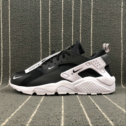 Womens Nike Air Huarache Run AS ZIP QS BQ6164-001 Black White Noir Blanc