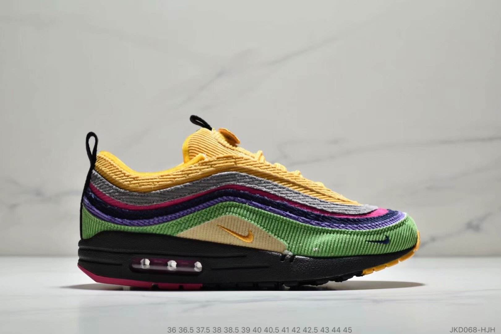Womens Nike Air Max 87 1 Sean Wotherspoon Grass Green Yellow Grey Purple Black On VaporMaxRunning