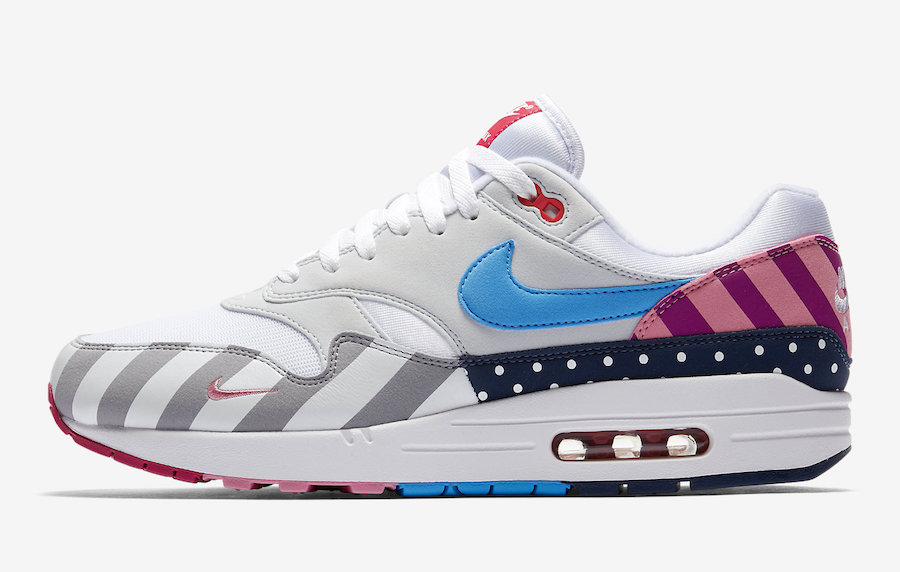 Womens Parra x Nike Air Max 1 White-Pure Platinum AT3057-100 On VaporMaxRunning
